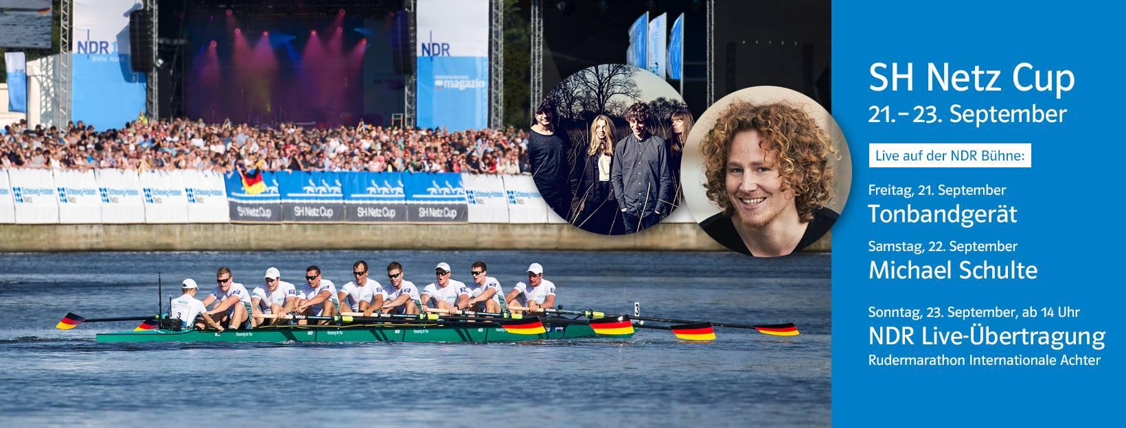 SH Netz Cup 2018: NDR 1 Welle Nord und Schleswig-Holstein Magazin mit Michael Schulte und TONBANDGERÄT