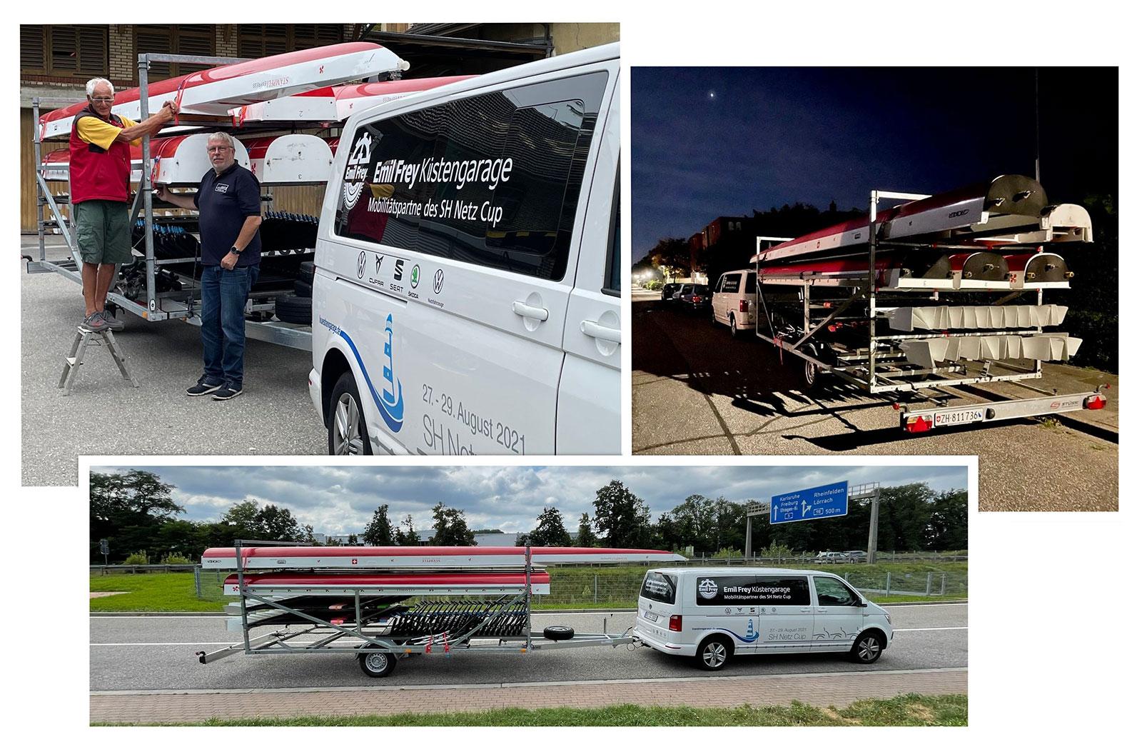 Das längste Ruderboot der Welt ist in Rendsburg angekommen